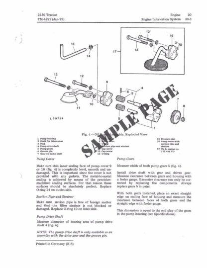 John Deere 2130 2140 3640 Repair Manual Instant Download