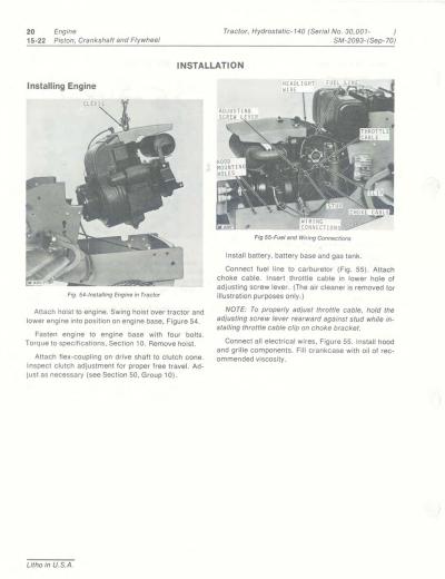 John Deere 140 Repair Manual Instant Download