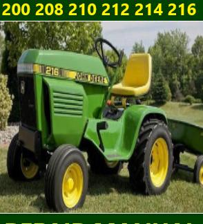 John Deere 200 208 210 212 214 216 Repair Manual Instant Download
