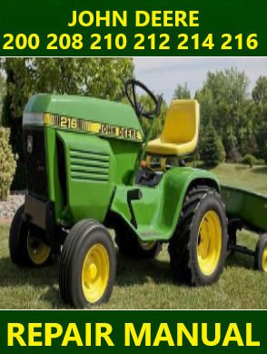 John Deere 200 208 210 212 214 216 Repair Manual Instant Download