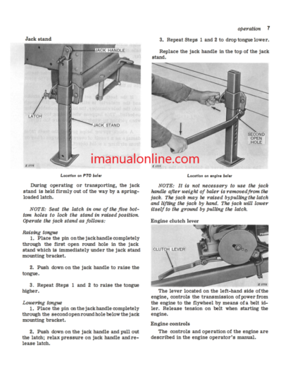John Deere 24T Twine Tie Baler Operator Manual