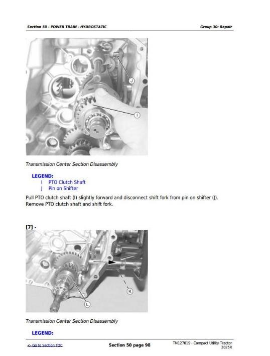 John Deere 2025R Manual