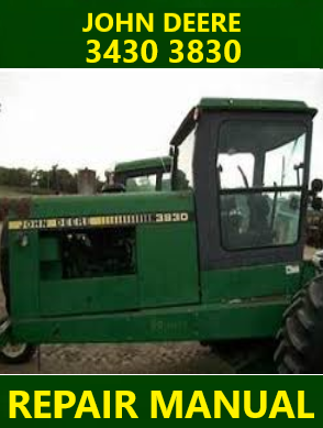 John Deere 3430 3830 Repair Manual Instant Download