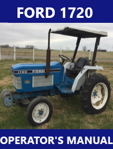 Ford 1720 Operators Manual Instant Download