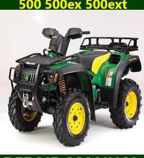 John Deere 500 500ex 500ext Buck Utility ATV Repair Manual Instant Download